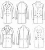 各品类服装款式图