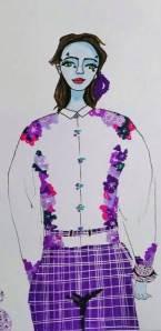 名片 式花衬衫