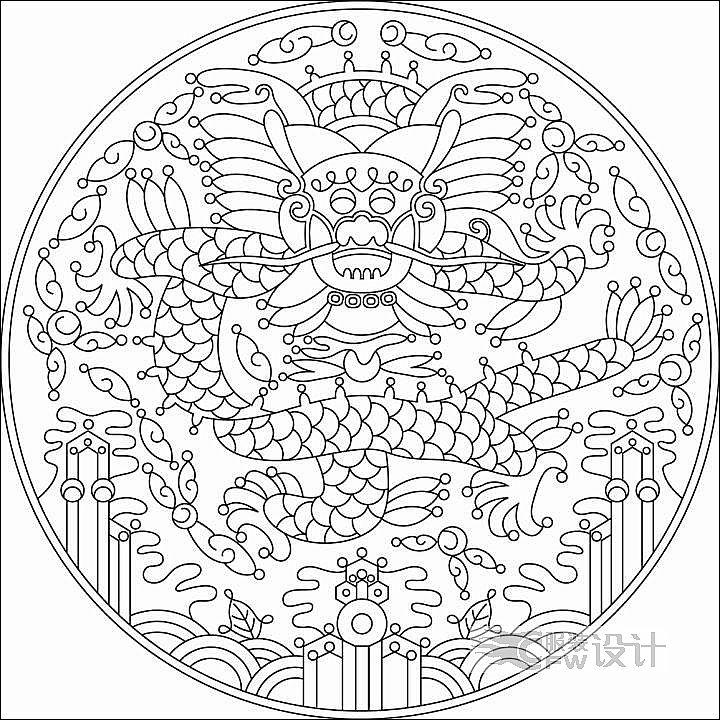 龙的画稿作品-龙的画稿款式图
