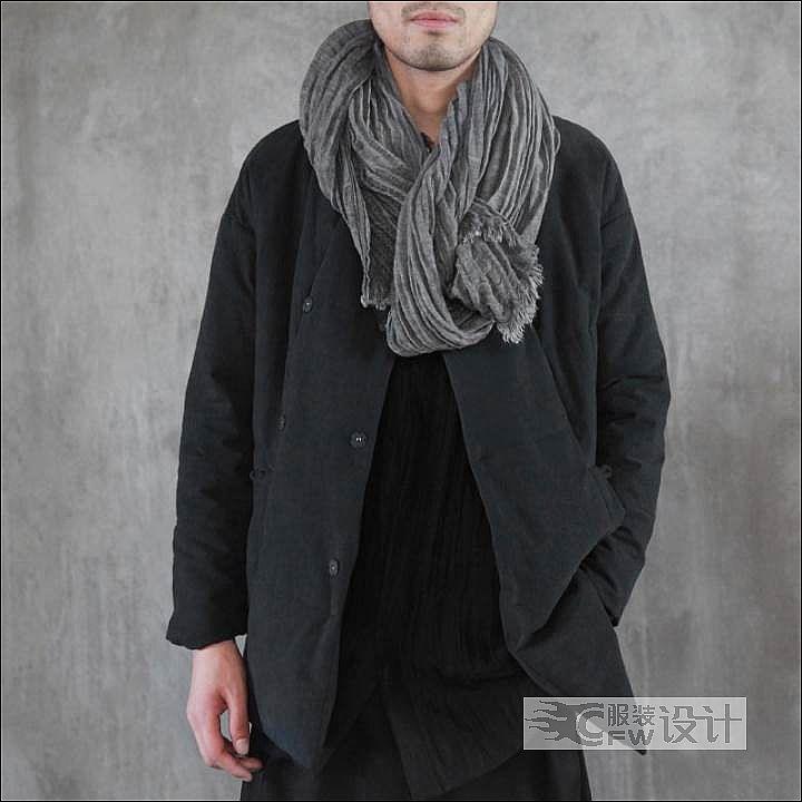 解构复古棉衣作品-解构复古棉衣款式图