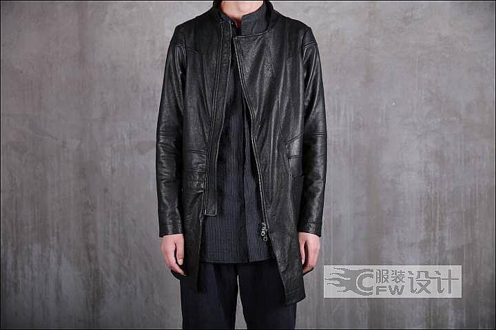 暗黑风绵羊皮外套作品-暗黑风绵羊皮外套款式图