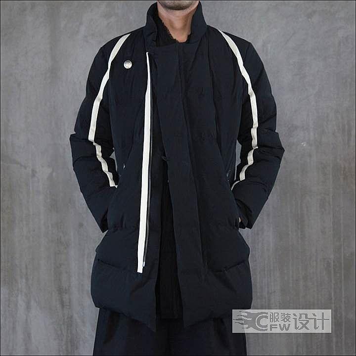 运动式复古羽绒服作品-运动式复古羽绒服款式图