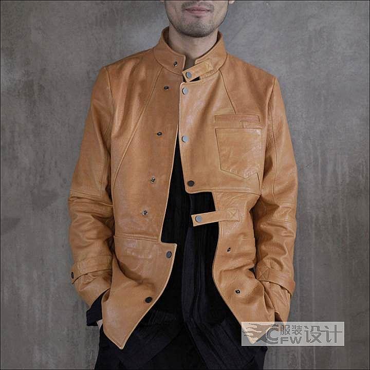 原创绵羊皮夹克作品-原创绵羊皮夹克款式图