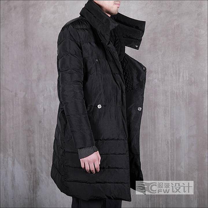 大领子羽绒服-男装设计-服装设计图片