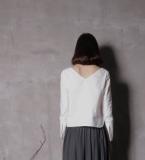 白衫+山水半裙