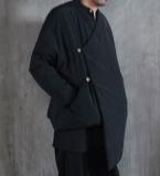 复古中式斜襟棉衣