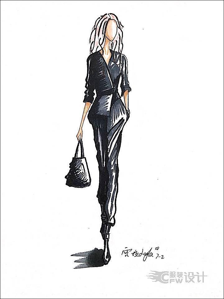 成熟女装作品-成熟女装款式图