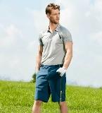 型男運動風反光印花短袖polo衫
