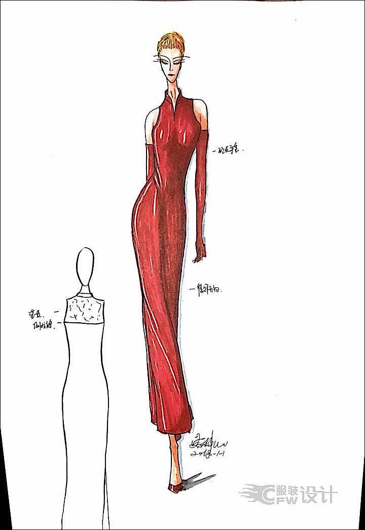 红色系列作品-红色系列款式图