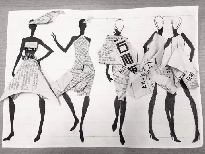 创意时装作品-创意时装款式图