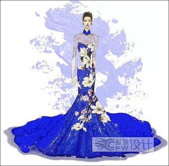 中西式礼服作品-中西式礼服款式图