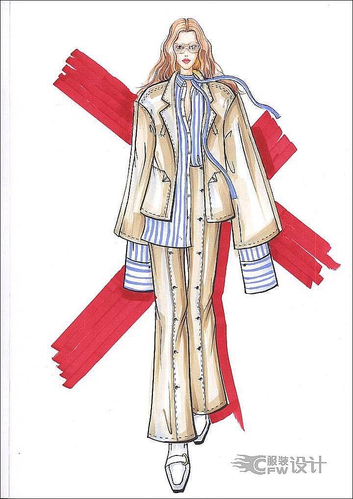 毕业设计,手绘,礼服作品集小-女装设计-服装设计