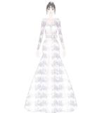 白色星空长裙