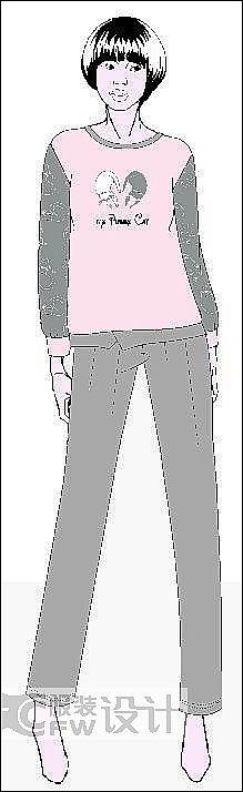 居家服装系列作品-居家服装系列款式图