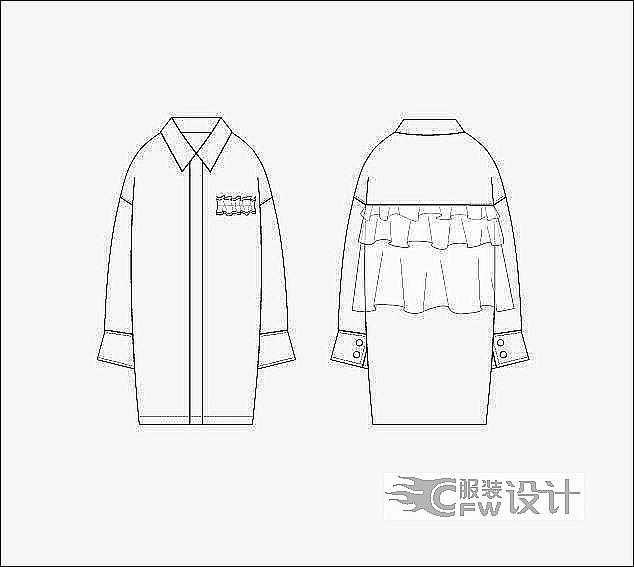 成衣作品-成衣款式图