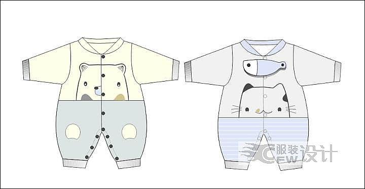 薄款连身衣作品-薄款连身衣款式图