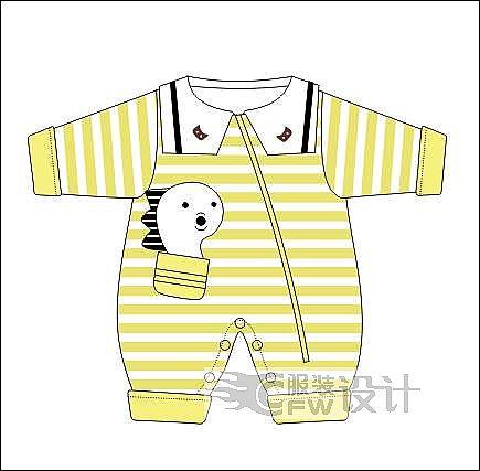 棉哈衣作品-棉哈衣款式图