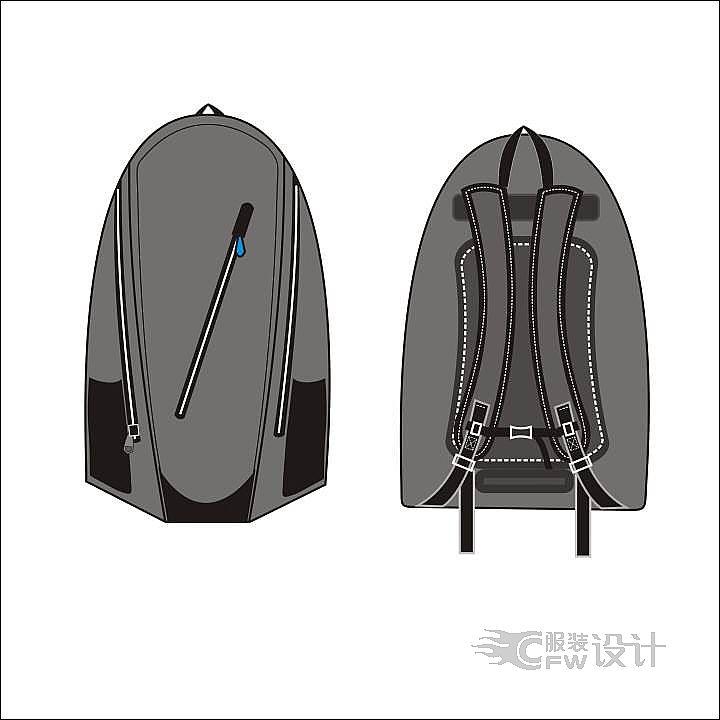防水运动包作品-防水运动包款式图