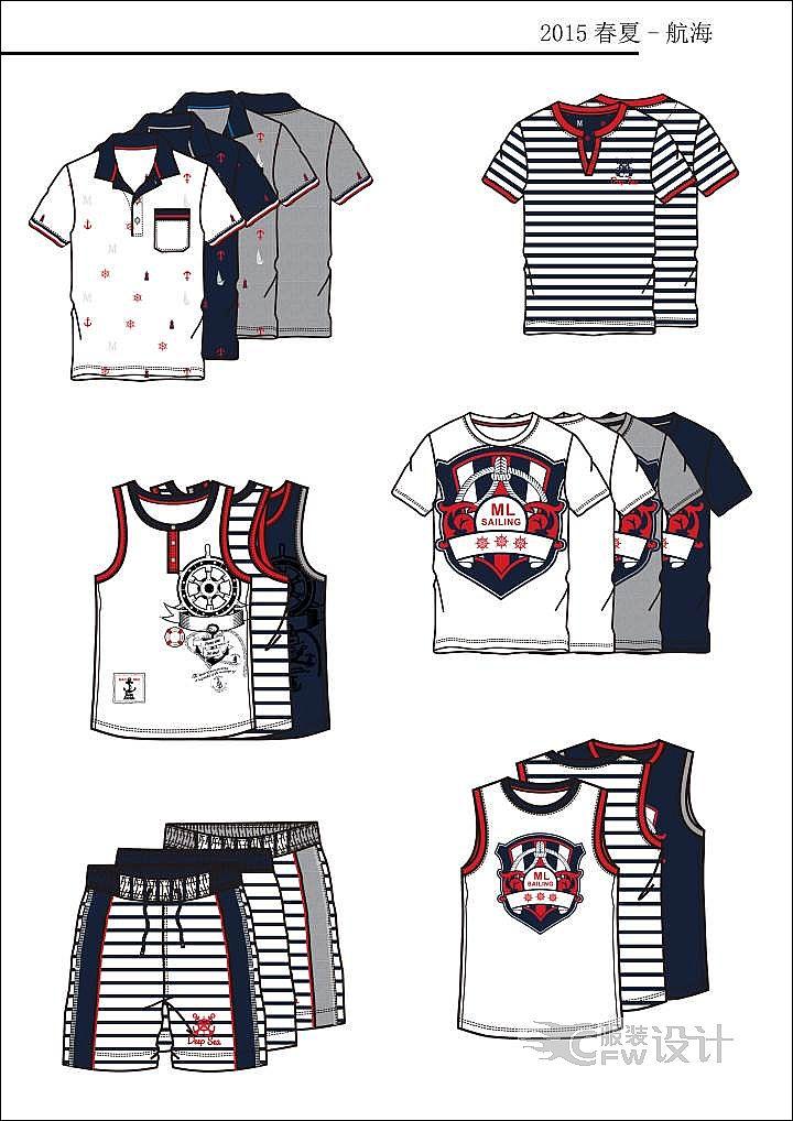 男童夏装系列作品-男童夏装系列款式图