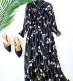 波西米亚真丝女装连衣裙