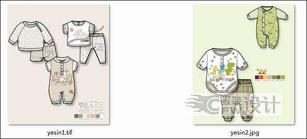 款式与印花图案作品-款式与印花图案款式图