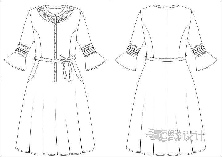 设计裙子手绘图