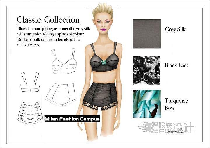 内衣设计经典系列作品-内衣设计经典系列款式图