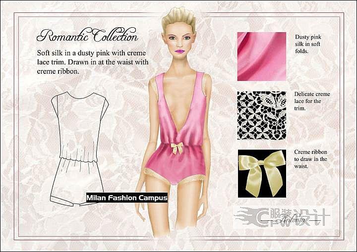 内衣设计手绘作品-内衣设计手绘款式图