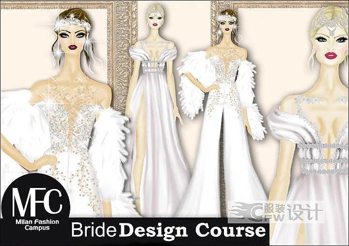 婚纱设计手稿作品-婚纱设计手稿款式图