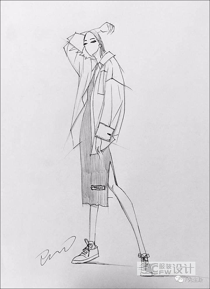 设计图手稿-女装设计-服装设计