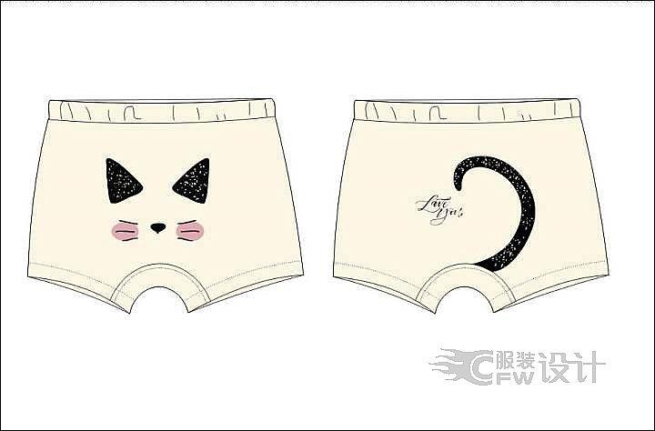 宝宝女款内裤作品-宝宝女款内裤款式图