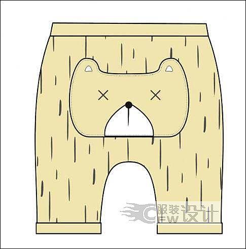 PP裤棉裤作品-PP裤棉裤款式图