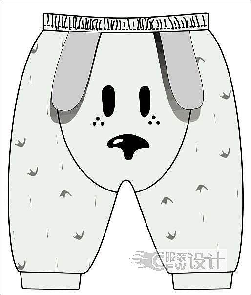 狗狗棉裤作品-狗狗棉裤款式图