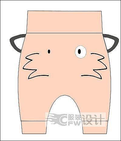 狐狸PP裤作品-狐狸PP裤款式图