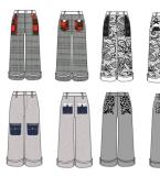 阔腿裤设计