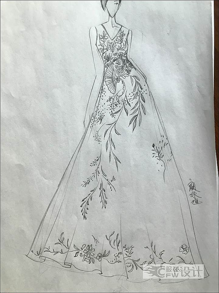 女装手稿作品-女装手稿款式图