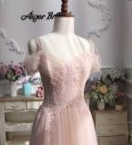 嫣粉色婚纱纱裙