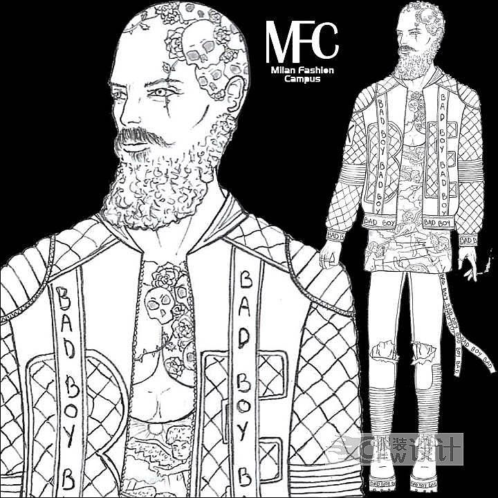 男装设计手绘图作品-男装设计手绘图款式图