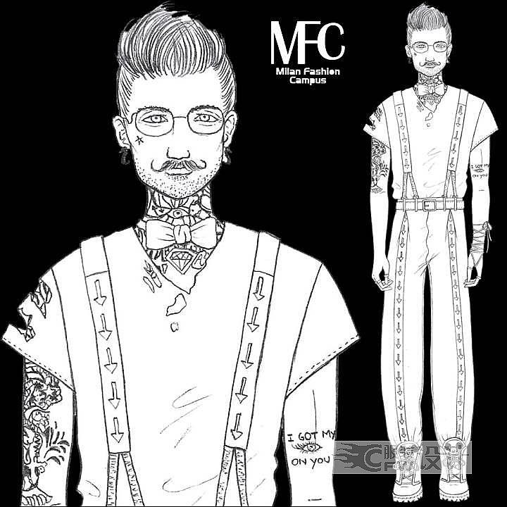 休闲男装设计作品-休闲男装设计款式图
