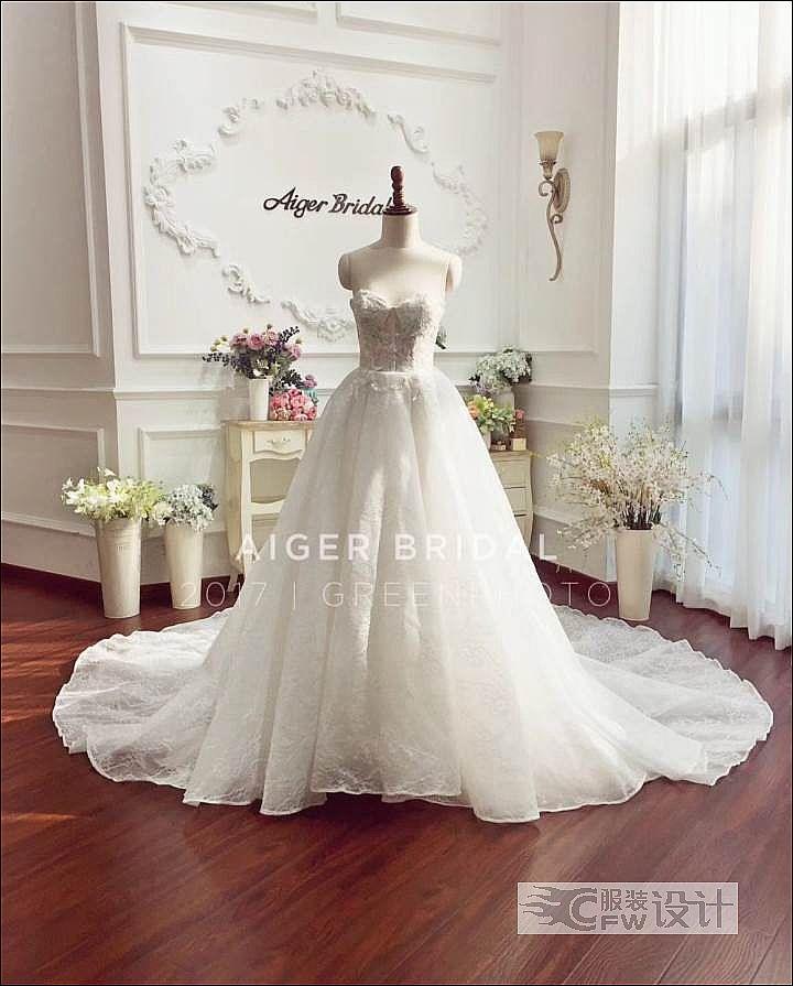 新款婚礼主纱作品-新款婚礼主纱款式图