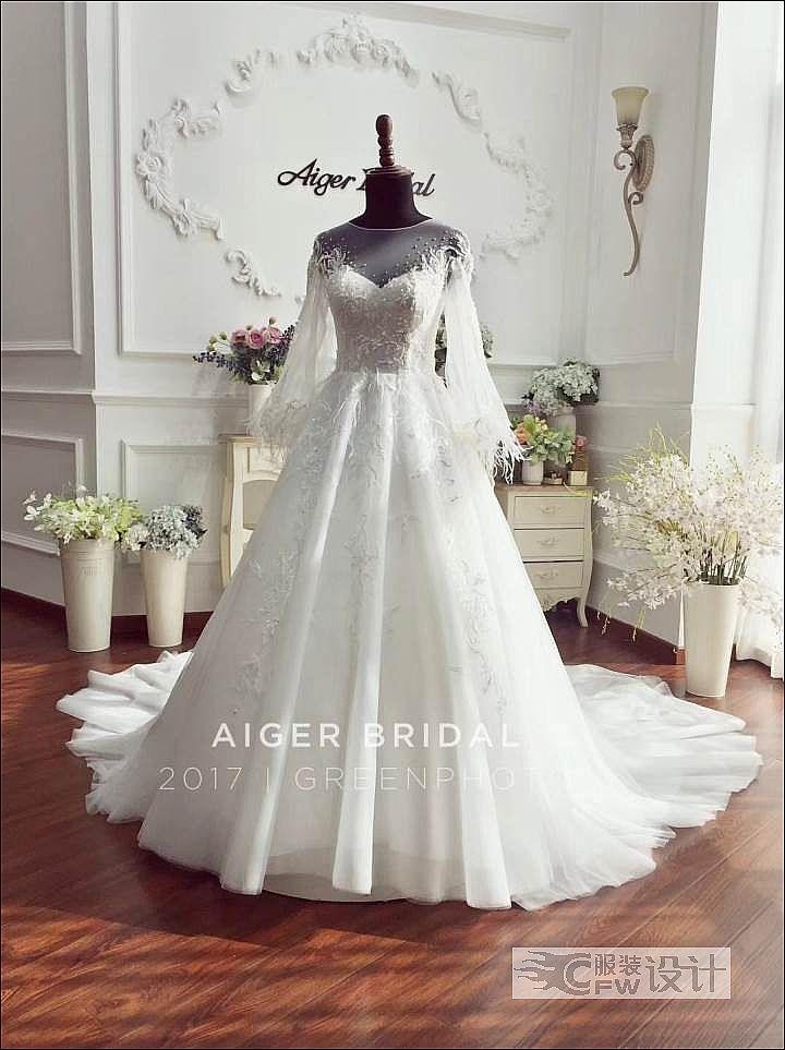 主婚纱作品-主婚纱款式图
