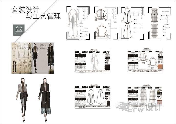 女装工艺管理与设计作品-女装工艺管理与设计款式图