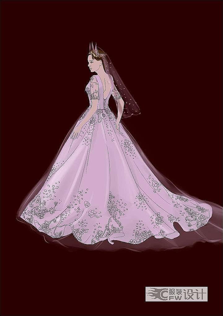 婚纱设计作品-婚纱设计款式图
