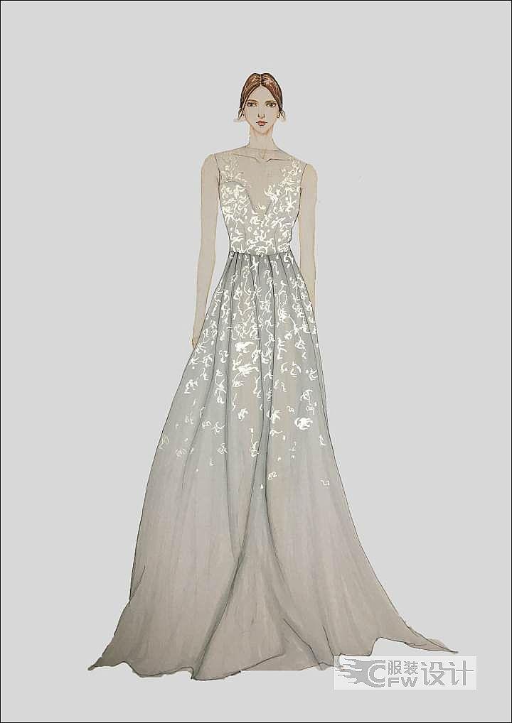 白纱礼服作品-白纱礼服款式图