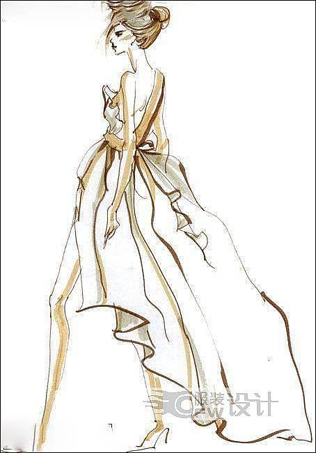 时装手绘图-女装设计-服装设计