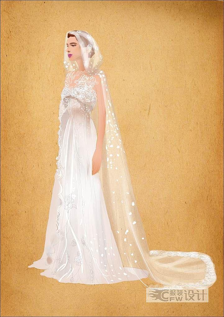 斗篷婚纱作品-斗篷婚纱款式图