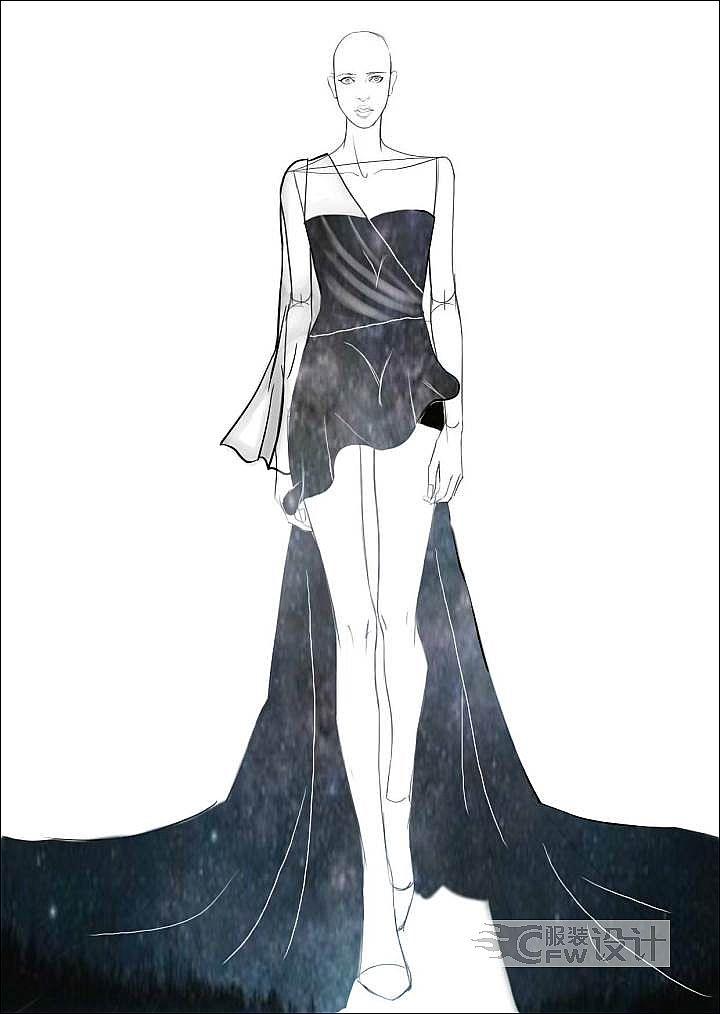 星空礼服作品-星空礼服款式图