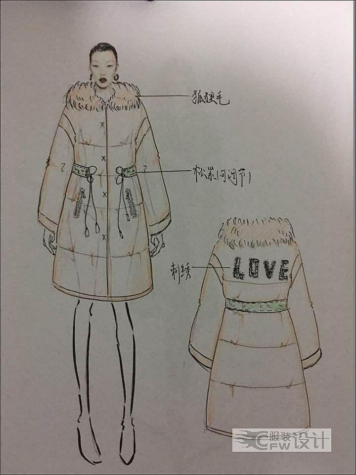 皮衣皮草-女装设计-服装设计