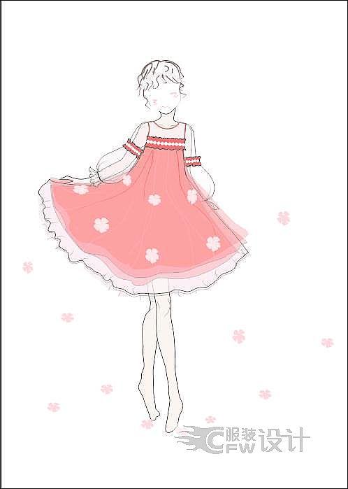 公主裙作品-公主裙款式图