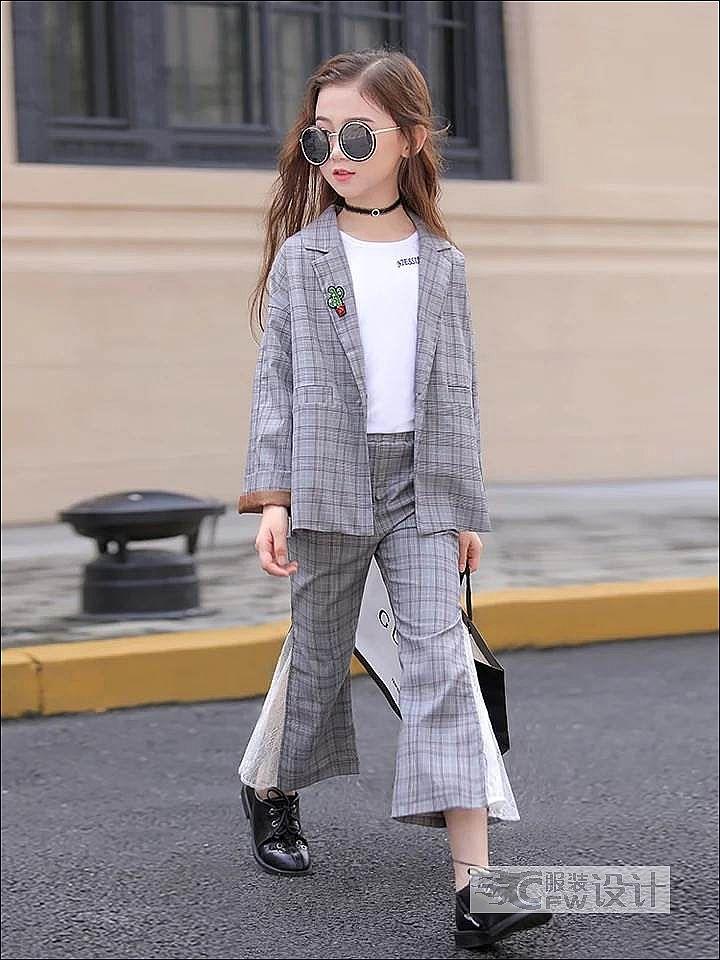 时尚休闲西服套装作品-时尚休闲西服套装款式图
